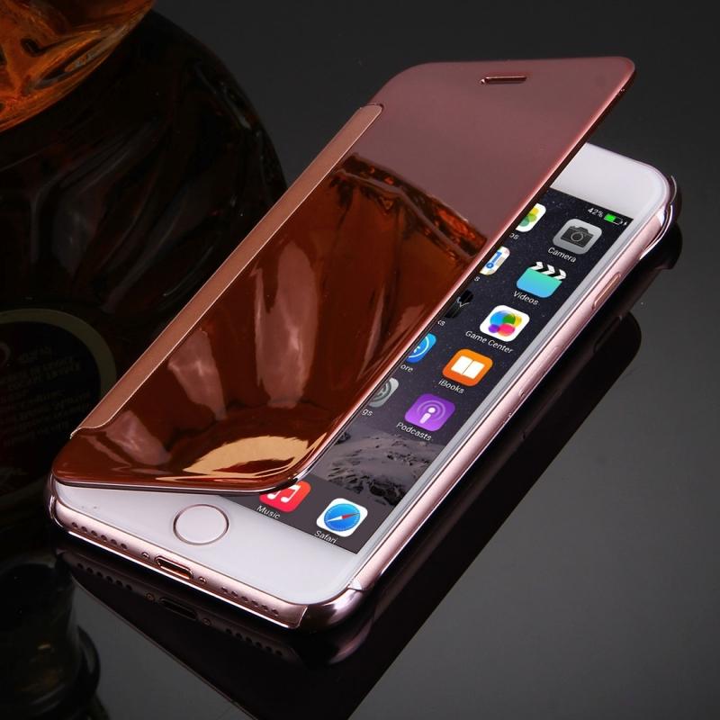 ... Zrcadlové otevírací   flipové pouzdro pro Apple iPhone 8   7 - růžově  zlaté ... 8009a2b449c