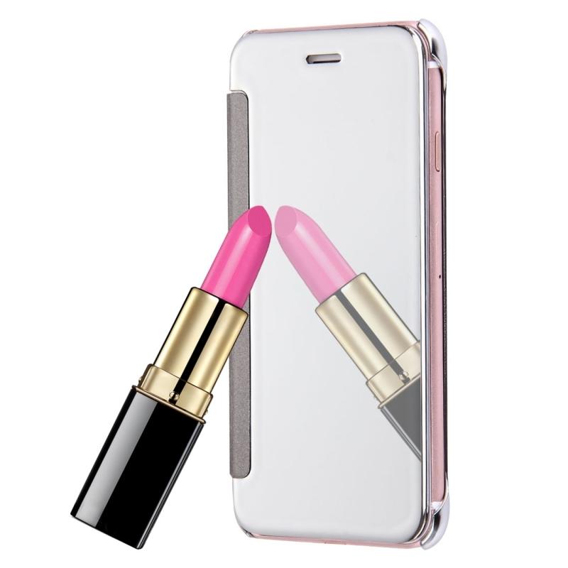 Zrcadlové otevírací   flipové pouzdro pro Apple iPhone 8   7 - stříbrné ... d83fbf84eab
