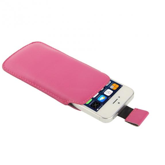 AppleKing pouzdro s vytahovacím poutkem pro iPhone iPhone 5 / 5S / SE - růžové - možnost vrátit zboží ZDARMA do 30ti dní