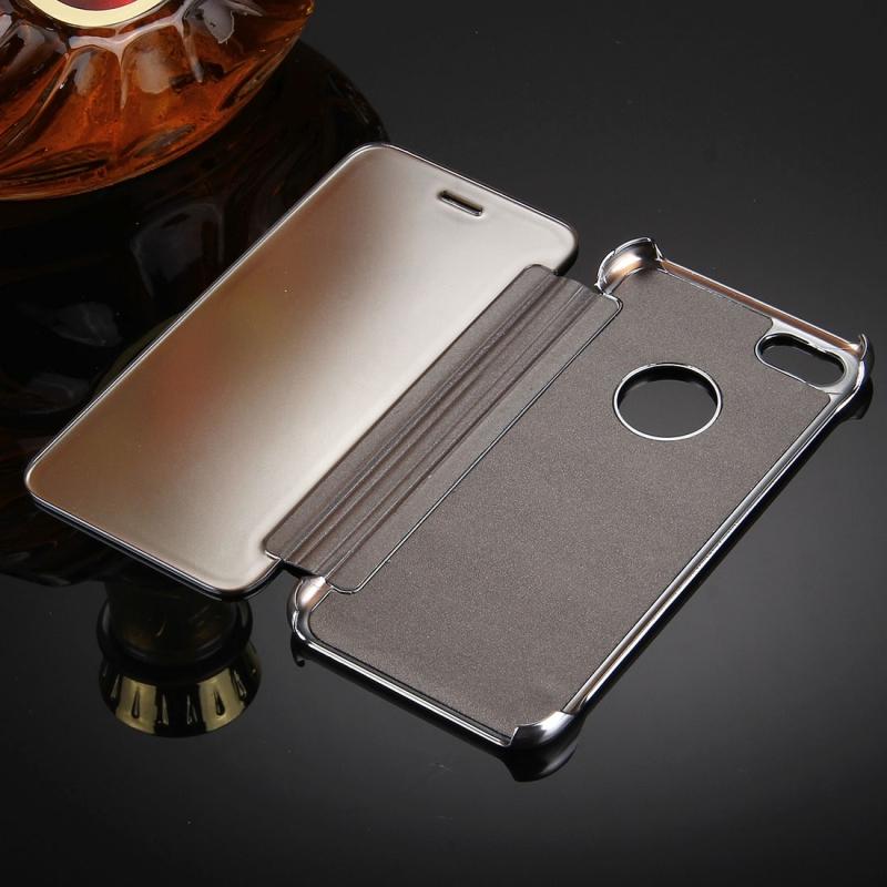 ... Zrcadlové otevírací   flipové pouzdro pro Apple iPhone 8   7 - stříbrné  ... e340fc38ee3