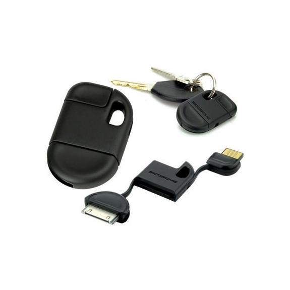 Synchronizační a nabíjecí 30pin kabel na klíčenku pro iPhone / iPad / iPod - černý