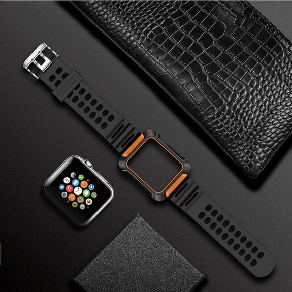 Totudesign pouzdro s řemínkem pro Apple Watch 1 / 2 / 3 - 42mm - oranžový - možnost vrátit zbo