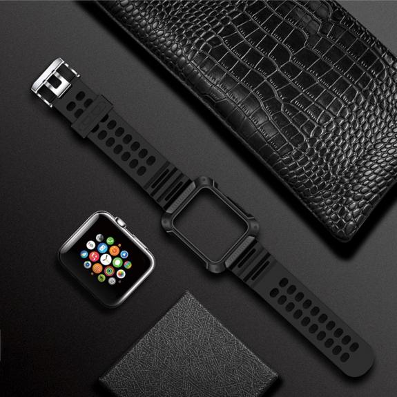 Totudesign pouzdro s řemínkem pro Apple Watch 1 / 2 / 3 - 42mm - šedý - možnost vrátit zboží