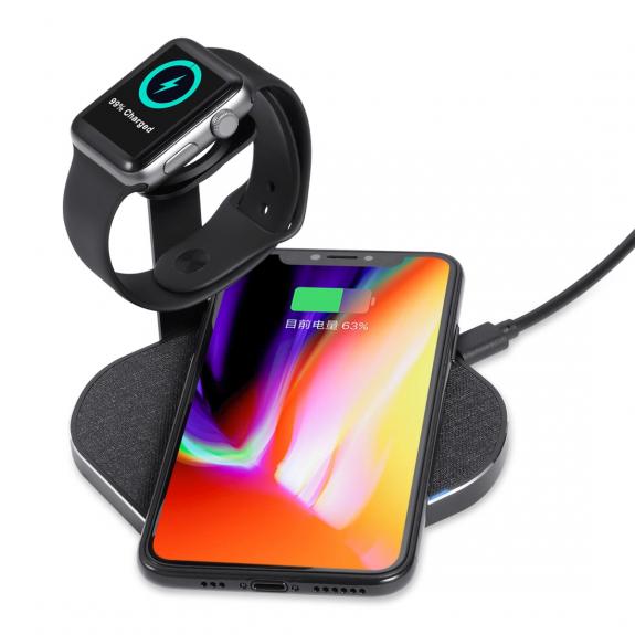 AppleKing dokovací stanice pro Apple iPhone a Apple Watch - černá - možnost vrátit zboží ZDARMA do 30ti dní