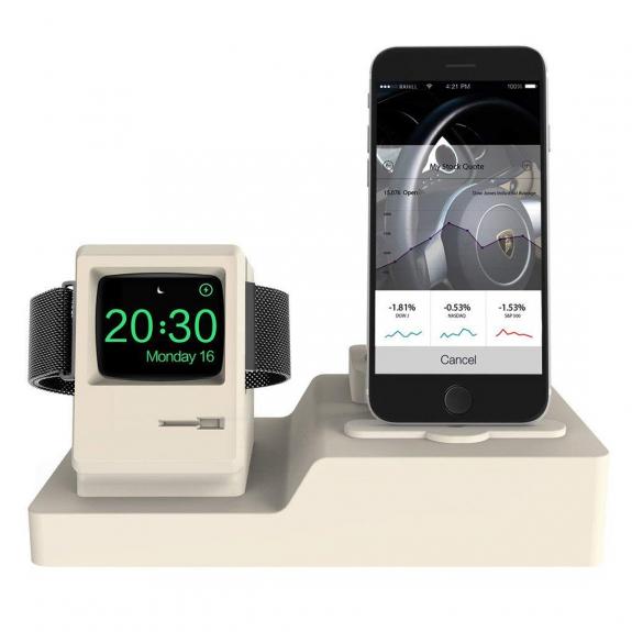 AppleKing dokovací stanice pro Airpods / iPhone / Apple watch - bílá - možnost vrátit zboží ZDARMA do 30ti dní
