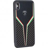 Lamborghini Originální kryt pro iPhone XS Max - černý