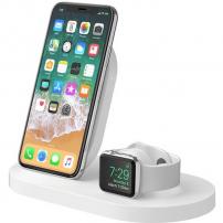 Belkin BOOST UP nabíjecí stanice pro iPhone a Apple Watch - bílá