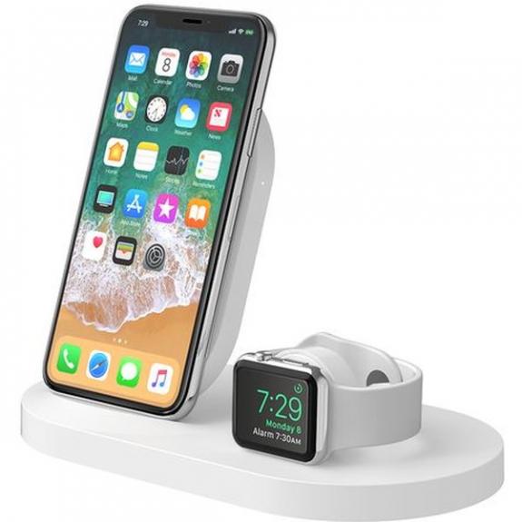 Belkin BOOST UP nabíjecí stanice pro iPhone a Apple Watch - bílá F8J235ttWHT - možnost vrátit zboží ZDARMA do 30ti dní