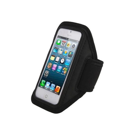 AppleKing sportovní pouzdro na ruku pro iPhone 5 / 5S / SE / 4 / 4S - černé - možnost vrátit zboží ZDARMA do 30ti dní