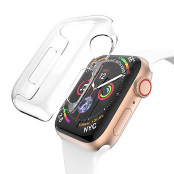 AppleKing pouzdro pro Apple Watch s ochranou displeje - 44mm (4. generace) - transparentní - možnost vrátit zboží ZDARMA do 30ti dní