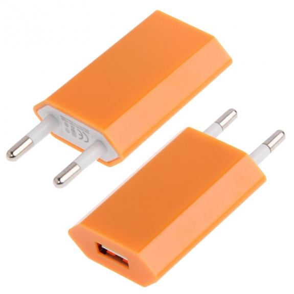 Nabíječka / adaptér pro iPhone / iPod Touch (5V / 1A) - oranžová