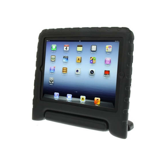 AppleKing pěnový obal odolný proti pádu pro děti na iPad 3 / iPad 4- černý - možnost vrátit zboží ZDARMA do 30ti dní