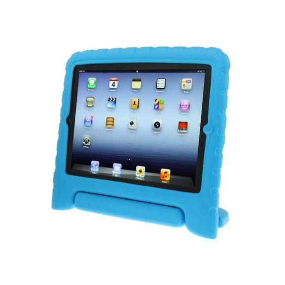 AppleKing pěnový obal odolný proti pádu pro děti na iPad 3 / iPad 4 - modrý - možnost vrátit zboží ZDARMA do 30ti dní