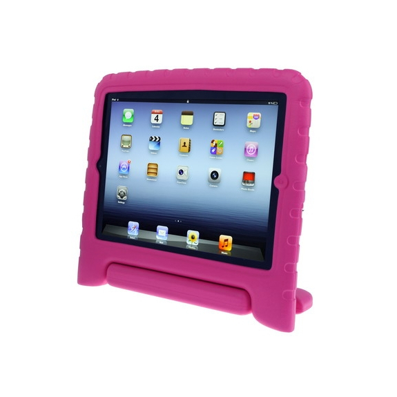 AppleKing pěnový obal odolný proti pádu pro děti na iPad 3 / iPad 4 – růžový - možnost vrátit zboží ZDARMA do 30ti dní