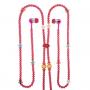 Korálkový náhrdelník se sluchátky - růžová