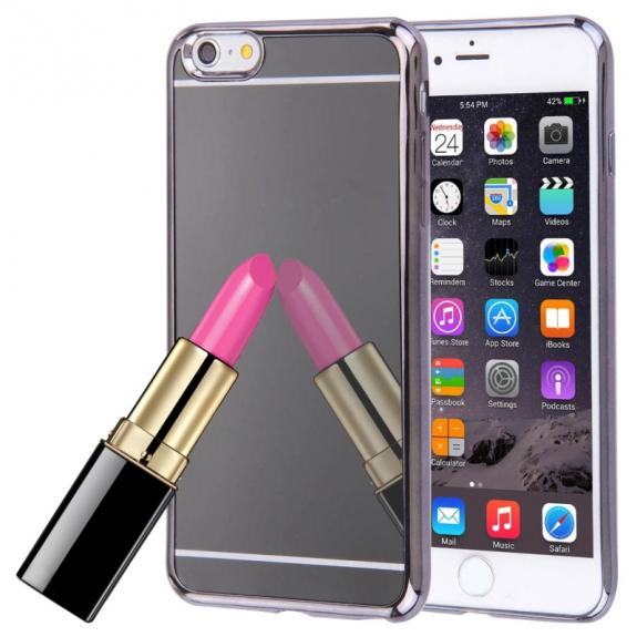 AppleKing zrcadlový ochranný kryt pro Apple iPhone 6 Plus / 6S Plus - šedý - možnost vrátit zboží ZDARMA do 30ti dní