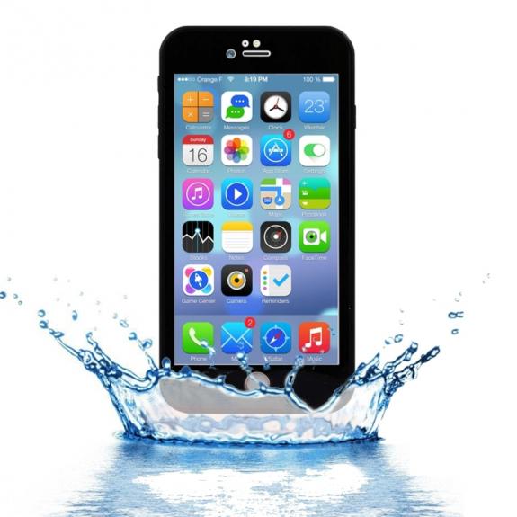 AppleKing voděodolný obal s diamantovým vzorem pro Apple iPhone 7 Plus - černý - možnost vrátit zboží ZDARMA do 30ti dní