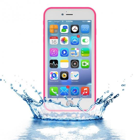 AppleKing voděodolný obal s diamantovým vzorem pro Apple iPhone 7 Plus - růžový - možnost vrátit zboží ZDARMA do 30ti dní