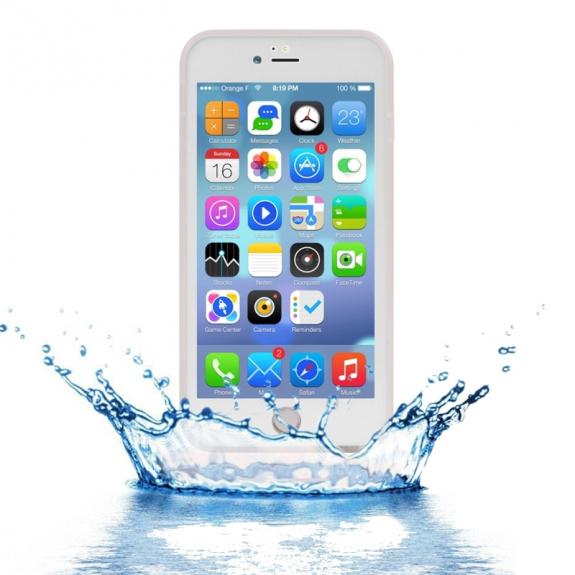 AppleKing voděodolný obal s diamantovým vzorem pro Apple iPhone 7 Plus - průhledný - možnost vrátit zboží ZDARMA do 30ti dní