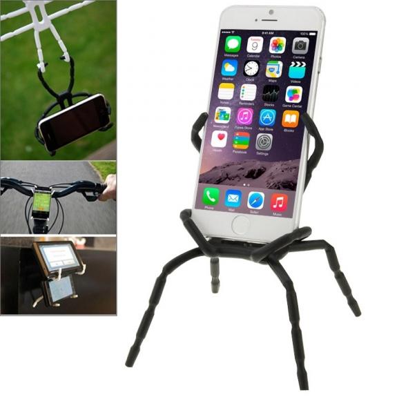 """AppleKing univerzální stojánek / držák """"pavouk"""" pro iPhone / iPod - černý - možnost vrátit zboží ZDARMA do 30ti dní"""