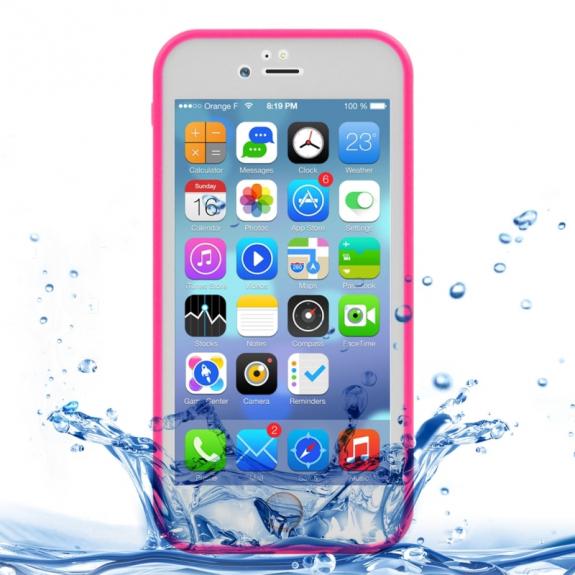 AppleKing voděodolný obal s diamantovým vzorem pro Apple iPhone 7 - růžový - možnost vrátit zboží ZDARMA do 30ti dní