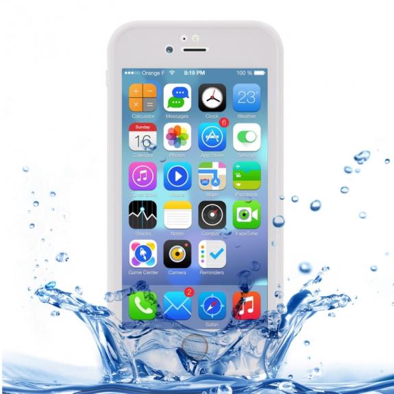 AppleKing voděodolný obal s diamantovým vzorem pro Apple iPhone 7 - bílý - možnost vrátit zboží ZDARMA do 30ti dní