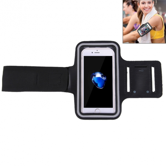 AppleKing sportovní pouzdro na ruku s kapsou na klíče pro Apple iPhone 7 Plus - černé - možnost vrátit zboží ZDARMA do 30ti dní