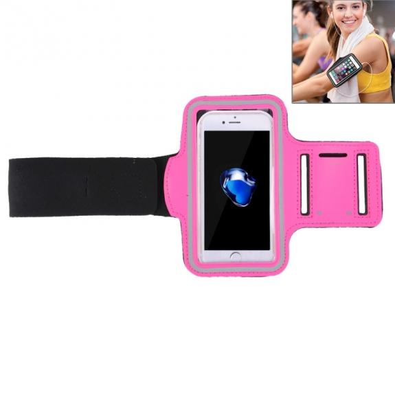 AppleKing sportovní pouzdro na ruku s kapsou na klíče pro Apple iPhone 7 Plus - růžové - možnost vrátit zboží ZDARMA do 30ti dní