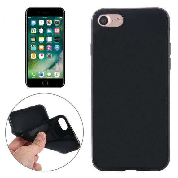 AppleKing gumový hladký kryt pro Apple iPhone 7 - černý - možnost vrátit zboží ZDARMA do 30ti dní
