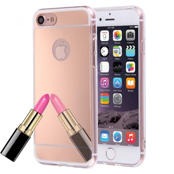 AppleKing zrcadlový ochranný kryt pro Apple iPhone 8 / 7 - růžově zlatý - možnost vrátit zboží ZDARMA do 30ti dní