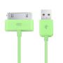 Synchronizační a nabíjecí 30pin kabel iPhone 4 / 4S / 3G / 3GS / iPad 2 / iPod Touch - 1m - zelený