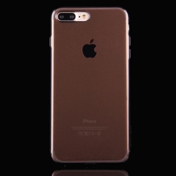 HAWEEL lesklý poloprůhledný obal pro Apple iPhone 8 Plus / 7 Plus - černý - možnost vrátit zboží ZDARMA do 30ti dní