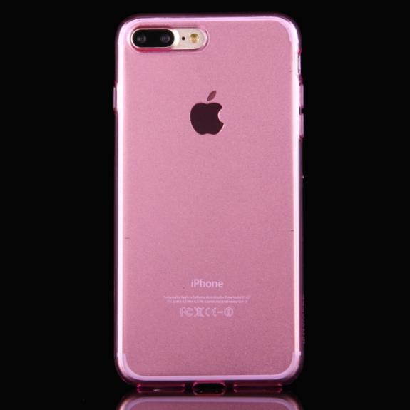 HAWEEL lesklý poloprůhledný obal pro Apple iPhone 8 Plus / 7 Plus - růžový - možnost vrátit zboží ZDARMA do 30ti dní