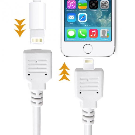 AppleKing prodlužovací kabel lightning Male / Female pro iPhone / iPad / iPod - 1m - bílý - možnost vrátit zboží ZDARMA do 30ti dní