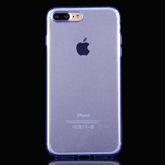 HAWEEL lesklý poloprůhledný obal pro Apple iPhone 8 Plus / 7 Plus - modrý - možnost vrátit zboží ZDARMA do 30ti dní