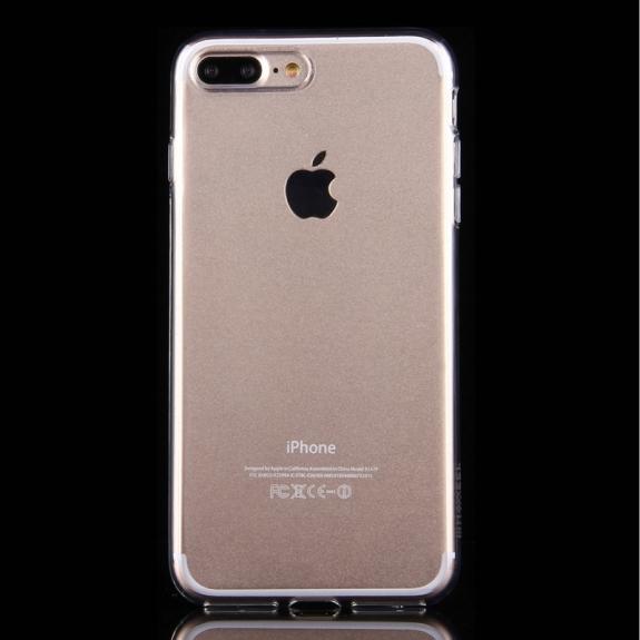 HAWEEL lesklý poloprůhledný obal pro Apple iPhone 8 Plus / 7 Plus - průhledný - možnost vrátit zboží ZDARMA do 30ti dní