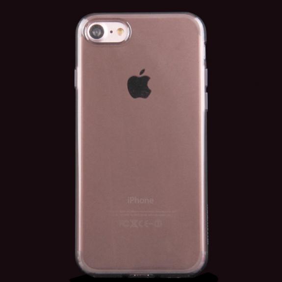 HAWEEL lesklý poloprůhledný obal pro Apple iPhone 8 / 7 - černý - možnost vrátit zboží ZDARMA do 30ti dní