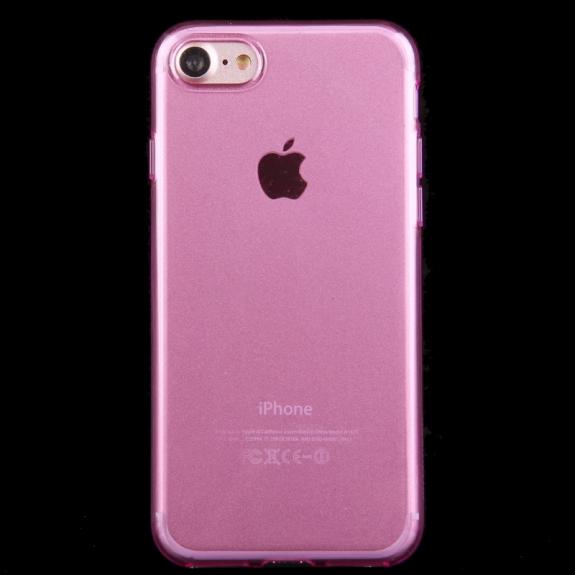 HAWEEL lesklý poloprůhledný obal pro Apple iPhone 8 / 7 - růžový - možnost vrátit zboží ZDARMA do 30ti dní