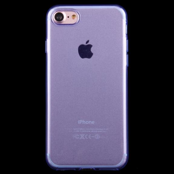 HAWEEL lesklý poloprůhledný obal pro Apple iPhone 8 / 7 - modrý - možnost vrátit zboží ZDARMA do 30ti dní