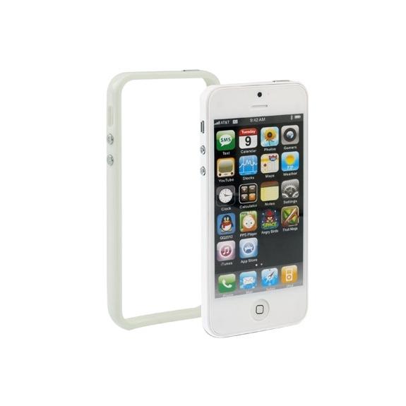 Ochranný plastový rámeček / bumper pro iPhone 5 / 5S / SE - bílý