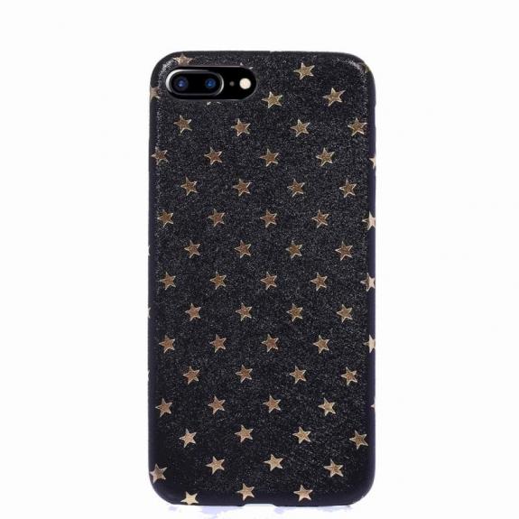 AppleKing ochranný odolný kryt s motivem hvězdiček pro Apple iPhone 8 Plus / 7 Plus - černý - možnost vrátit zboží ZDARMA do 30ti dní