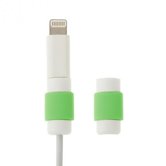 AppleKing plastová ochrana / rozlišovač nabíjecích kabelů - bílo-zelená - možnost vrátit zboží ZDARMA do 30ti dní