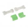 Plastová ochrana / rozlišovač nabíjecích kabelů - bílo-zelená