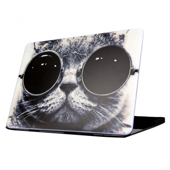 """AppleKing ochranný obal / kryt pro Macbook Air 13.3"""" - kočka s brýlemi - možnost vrátit zboží ZDARMA do 30ti dní"""