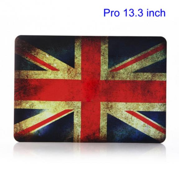 """AppleKing ochranný plastový obal / kryt pro Macbook Pro 13.3"""" A1278 - retro vlajka UK - možnost vrátit zboží ZDARMA do 30ti dní"""