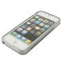 """Ochranný plastový kryt """"S line"""" pro iPhone 5 / 5S / SE - šedý"""