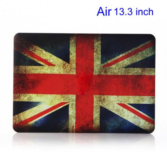 "AppleKing pogumovaný plastový obal / kryt pro MacBook Air 13"" (model A1369 / A1466) - retro vlajka"