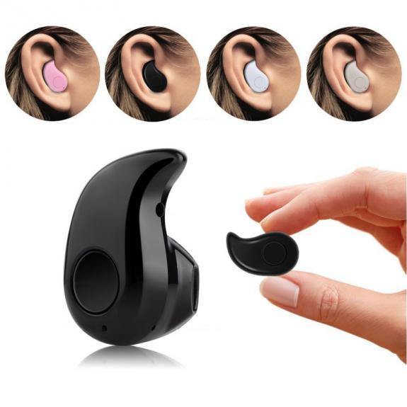 AppleKing bezdrátové Bluetooth 4.0 sluchátko univerzální pro Apple iPhone / iPad / Mac - černé - možnost vrátit zboží ZDARMA do 30ti dní
