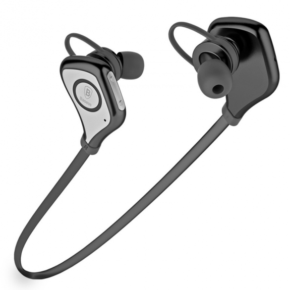 BASEUS Sportovní bluetooth sluchátka pro Apple iPhone / iPad / Mac - černé - možnost vrátit zboží ZDARMA do 30ti dní