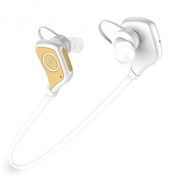 BASEUS Sportovní bluetooth sluchátka pro Apple iPhone / iPad / Mac - bílé - možnost vrátit zboží ZDARMA do 30ti dní